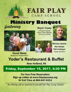 Ministry Banquet New Holland PA 2017 poster