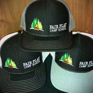baseball caps with camp logo