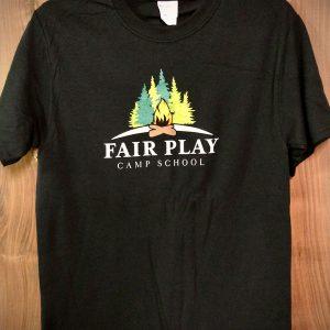 black t-shirt camp