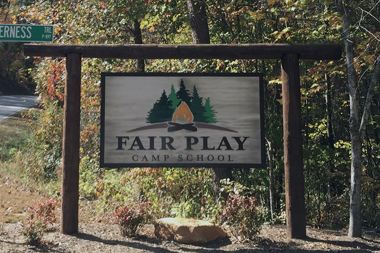 Fair Play Camp new sign