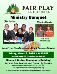 Ministry Banquet southern Indiana 2018 poster