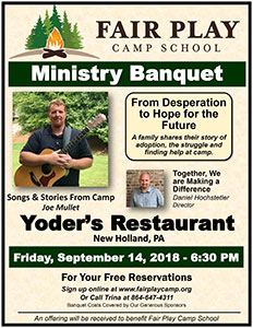 Ministry Banquet New Holland PA 2018 poster